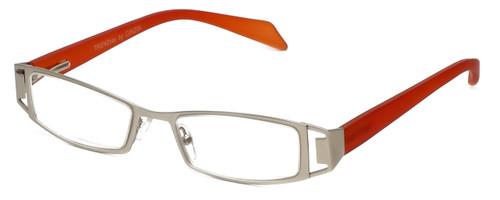 Cinzia Designer Reading Glasses Trendies Freeze C1 in Silver Orange 46mm