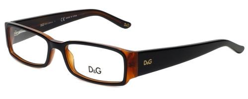 Dolce & Gabbana Designer Reading Glasses DG1184-990 in Black/Amber 52mm