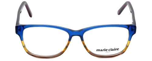 Marie Claire Designer Eyeglasses MC6217-BLU in Blue Stripe 52mm :: Custom Left & Right Lens