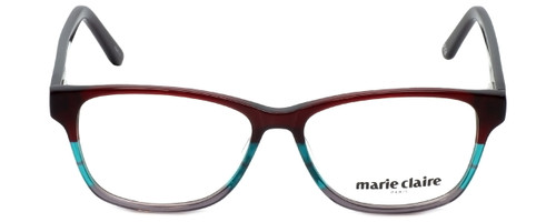 Marie Claire Designer Eyeglasses MC6217-BUR in Burgundy Stripe 52mm :: Progressive