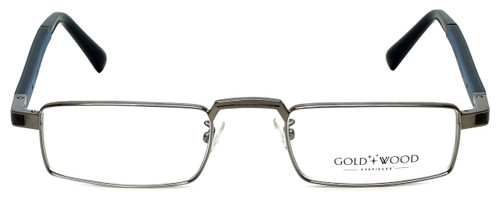 Gold & Wood Designer Eyeglasses Centaur-03 in Gunmetal 52mm :: Custom Left & Right Lens
