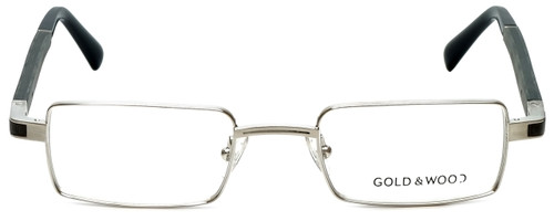 Gold & Wood Designer Eyeglasses Matar-02 in Silver Wood 48mm :: Custom Left & Right Lens