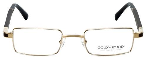 Gold & Wood Designer Eyeglasses Matar-01 in Gold 48mm :: Rx Single Vision