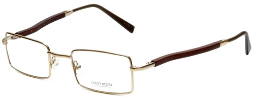 Gold & Wood Designer Eyeglasses 410.6-A6 in Gold 47mm :: Progressive