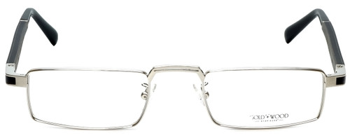 Gold & Wood Designer Eyeglasses Centaur-02 in Silver 52mm :: Rx Bi-Focal