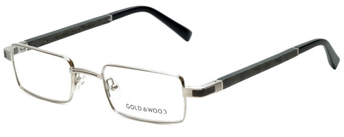 Gold & Wood Designer Eyeglasses Matar-02 in Silver Wood 48mm :: Rx Bi-Focal