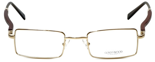 Gold & Wood Designer Reading Glasses 410.6-A6 in Gold 47mm