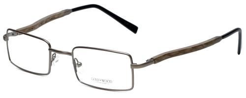 Gold & Wood Designer Reading Glasses 410.9-106 in Gunmetal 47mm