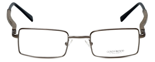Gold & Wood Designer Reading Glasses 410.9-106 in Gunmetal 47mm