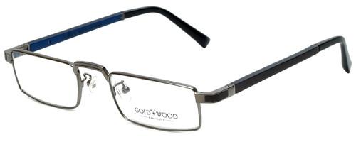 Gold & Wood Designer Reading Glasses Centaur-03 in Gunmetal 52mm