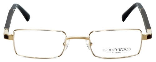 Gold & Wood Designer Reading Glasses Matar-01 in Gold 48mm