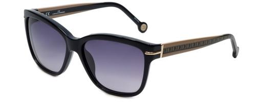 Carolina Herrera Designer Sunglasses SHE575-0700 in Black