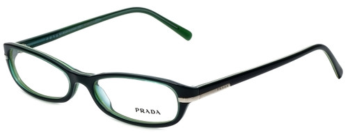 Prada Designer Reading Glasses VPR13G-7OS1O1 in Green 52mm