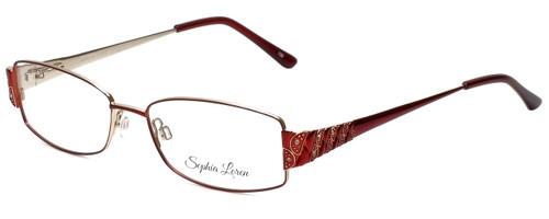 Sophia Loren Designer Reading Glasses SL-M213-077 in Burgundy 54mm