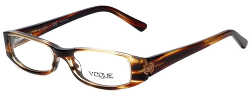 Vogue Designer Eyeglasses VO2574-1627 in Striped Brown 49mm :: Custom Left & Right Lens