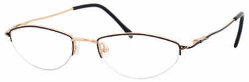 Joan Collins 9635 Designer Reading Glasses in Gold Brown