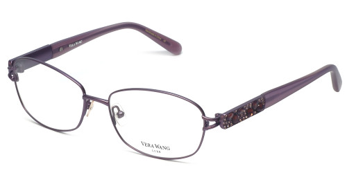 Vera Wang Designer Reading Glasses Volans in Orchid 55mm