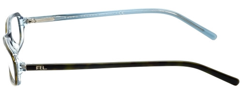 Ralph Lauren Designer Eyeglasses RL6017-5211 in Havana Azure 49mm :: Rx Single Vision