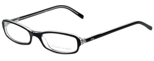 Ralph Lauren Designer Eyeglasses RL6017-5011 in Black Transparent 49mm :: Progressive