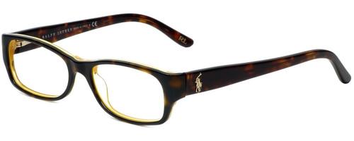 Ralph Lauren Designer Reading Glasses RL6058-5277 in Havana Yellow 51mm
