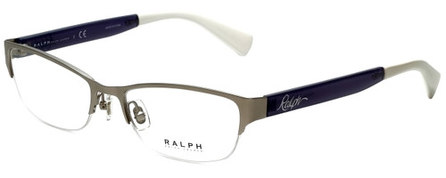 Ralph Lauren Designer Reading Glasses RA6042-170 in Matte Silver 52mm