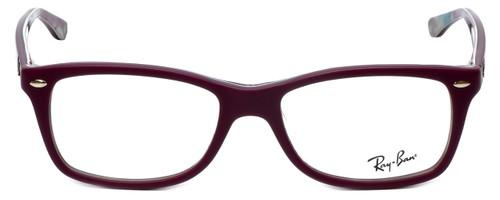 Ray-Ban Designer Eyeglasses RB5228-5408 in Matte Purple 53mm :: Custom Left & Right Lens
