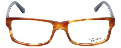 Ray-Ban Designer Eyeglasses RB5245-5609-52 in Havana Blue 52mm :: Rx Single Vision