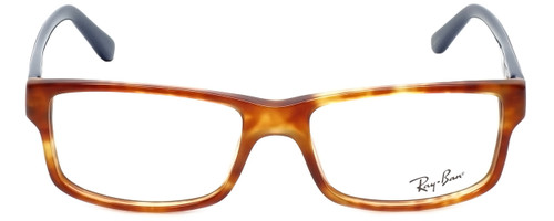 Ray-Ban Designer Eyeglasses RB5245-5609-54 in Havana Blue 54mm :: Rx Single Vision