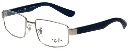 c1b1900f97 Ray-Ban Designer Reading Glasses RB6319-2538 in Silver Blue 53mm