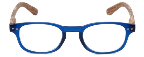 M Readers Designer Reading Glasses 102-MBLUE in Matte Blue Wood 46mm