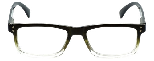 M Readers Designer Reading Glasses 104-SGNGT in Black Olive Fade 53mm