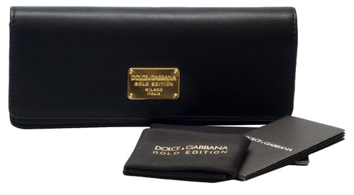 Dolce & Gabbana Authentic Gold Edition Eyeglass Case in Black