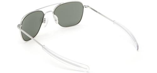 Randolph Designer Sunglasses Aviator AF036 in Matte Chrome with Gray Lens