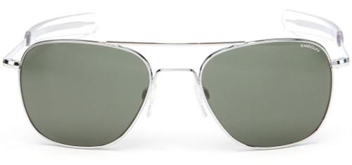 924bf962e9 Randolph Designer Sunglasses Aviator AF076 in Bright Chrome with Gray Lens