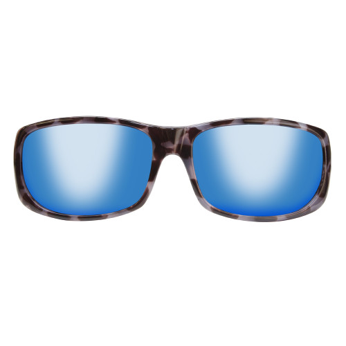 Jonathan Paul® Fitovers Eyewear Large Pandera in Black Marble & Blue Mirror PD003BM