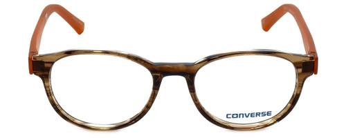 Converse Designer Eyeglasses Q014-Brown-Stripe-48 in Brown Stripe and Orange 48mm :: Custom Left & Right Lens