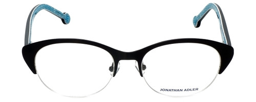 Jonathan Adler Designer Eyeglasses JA101-Black in Black 52mm :: Rx Single Vision