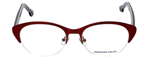 Jonathan Adler Designer Eyeglasses JA101-Bur in Burgundy 52mm :: Rx Single Vision