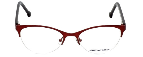 Jonathan Adler Designer Eyeglasses JA104-Red in Red 53mm :: Rx Single Vision