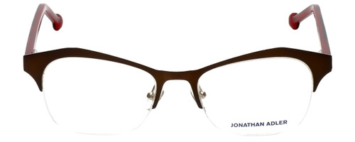 Jonathan Adler Designer Eyeglasses JA106-Brown in Brown 51mm :: Rx Single Vision