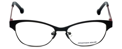 Jonathan Adler Designer Eyeglasses JA100-Black in Black 53mm :: Progressive