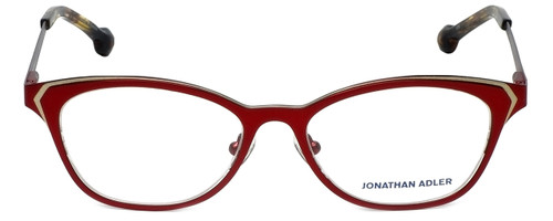Jonathan Adler Designer Reading Glasses JA110-Burgundy in Burgundy Gold 51mm