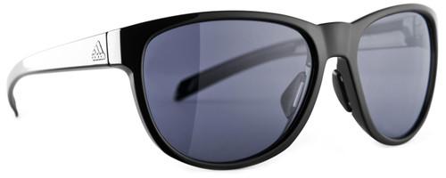 Adidas Designer Sunglasses Wildcharge in Shiny Black & Grey Lens