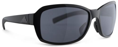 Adidas Designer Sunglasses Baboa in Black Shiny & Grey Lens