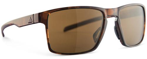 Adidas Designer Sunglasses Wayfinder in Brown Havana & Brown Lens