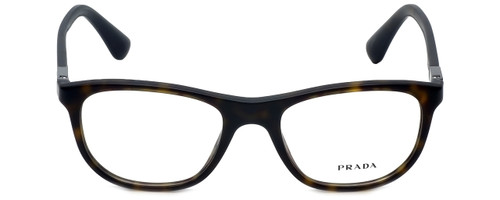 Prada Designer Eyeglasses VPR29S-HAQ1O1-52 in Matte Havana 52mm :: Rx Single Vision