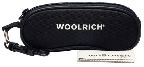 Woolrich Plateau Designer Sunglasses in Matte Black with Grey Lens