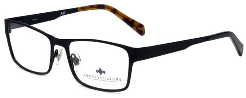 Argyleculture Designer Eyeglasses Calloway in Black Navy 55mm :: Custom Left & Right Lens