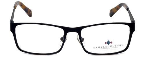 Argyleculture Designer Eyeglasses Calloway in Black Navy 55mm :: Rx Single Vision