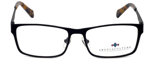Argyleculture Designer Eyeglasses Calloway in Black Navy 55mm :: Rx Bi-Focal